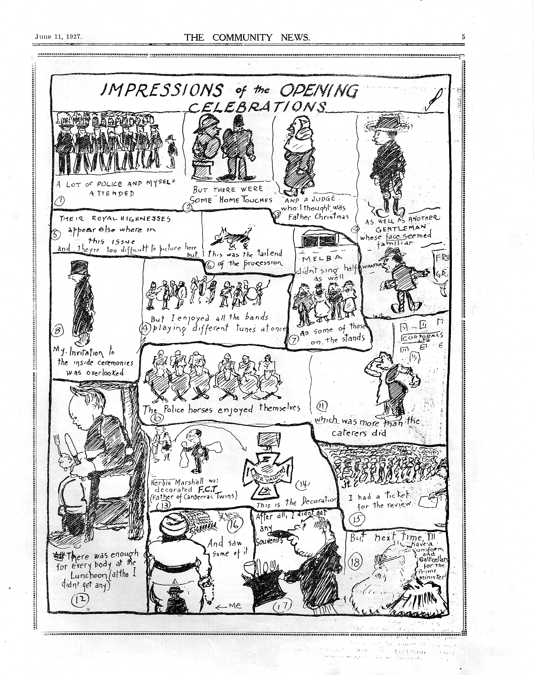 Canberra Community News cartoon 1927